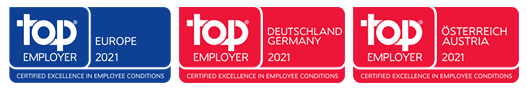 top employer 2021 banner Europe, Germany, Austria